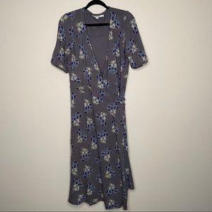 Boden floral wrap maxi dress